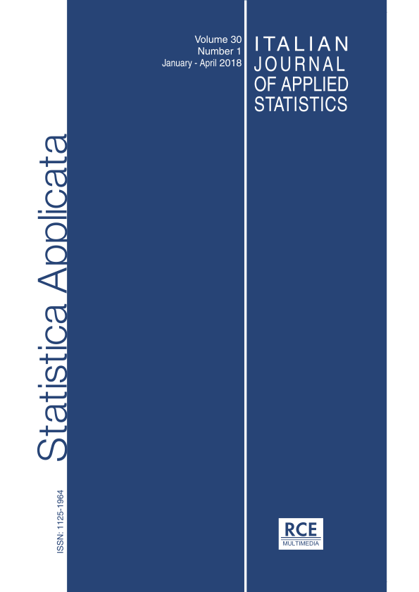 Cover Italian Journal of Applied Statistics, vol. 30, 1, 2018